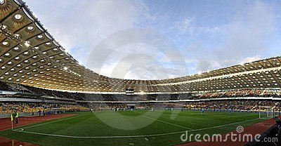 Panoramic view of Olympic stadium in Kyiv Editorial Image