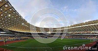 Panoramic view of Olympic stadium in Kyiv Editorial Image