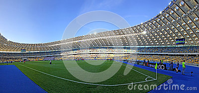 Panoramic view of Olympic stadium in Kyiv Editorial Photo