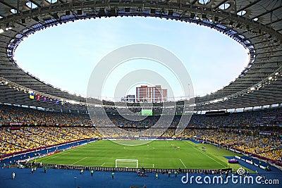 Panoramic view of Olympic stadium in Kyiv Editorial Photo