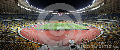 Panoramic view of Olympic stadiumin Kyiv Editorial Image