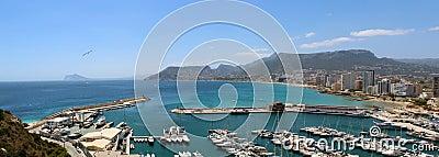 Panoramic view over Calp (Spain)