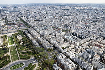 Panoramic view over Paris