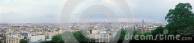 Panoramic view of Paris.