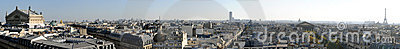 Panoramic view of Paris in high definition -France