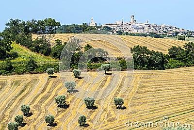 Panoramic view of Potenza Picena