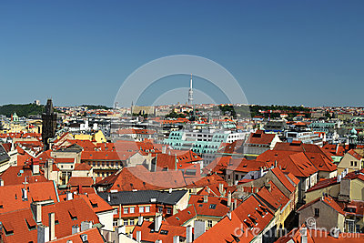 Panoramic view of Prague - Czech Republic - Europe