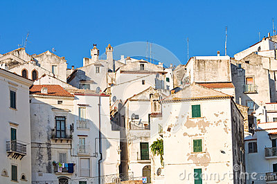 Panoramic view of Rodi Garganico. Puglia. Italy.