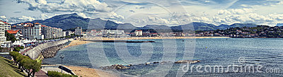 Panoramic view of Saint Jean de Luz, France