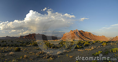 Panoramic view in San Rafael Swell in Utah
