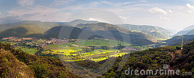 Panoramic view of the Spanish Pyrenees