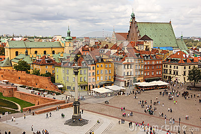 View of Castle square. Warsaw. Poland Editorial Image