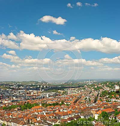 Panoramic view of Stuttgart city, Germany
