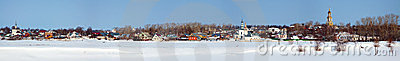 Panoramic view of Suzdal