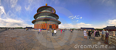 Panoramic view of the Temple of Heaven Editorial Photo