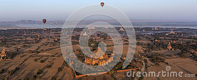 Panoramic view -  Bagan Temples - Myanmar (Burma) Editorial Image