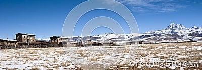 Panoramic view of tibetan village