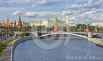 Panoramic view to Moscow Kremlin