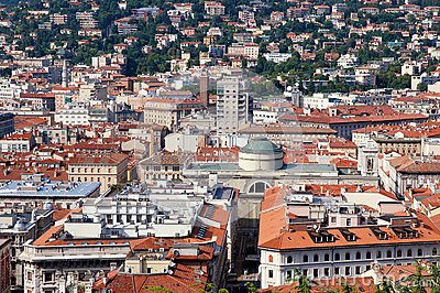 Panoramic view of Triest city, Italy