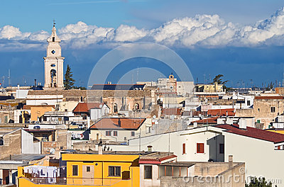 Panoramic view of Turi. Puglia. Italy.