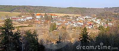 Panoramic view on a village