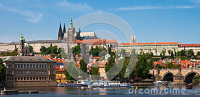 Panoramic view of the Vltava River