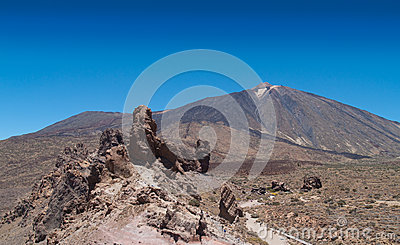 Panoramic view of volcano Teide