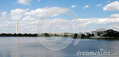 Panoramic view of Washington Monument
