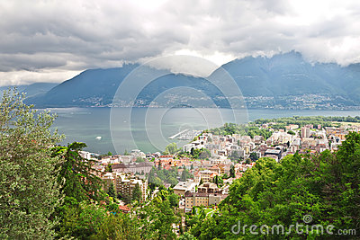 Panoramic views of Locarno.
