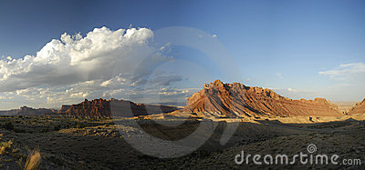 Panoramic vista in San Rafael Swell in Utah