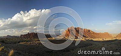Panoramic vista in San Rafael Swell in Utah