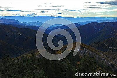 Panoramic winter vista