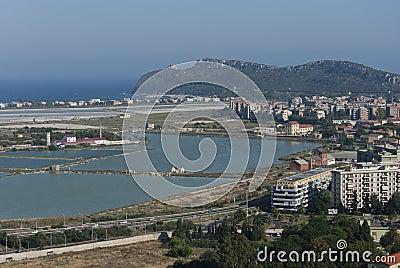 Panoramiczny Cagliari widok Sardinia