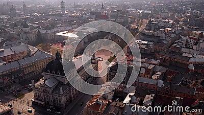 Panoramiczny widok dachu teatru zdjęcie wideo