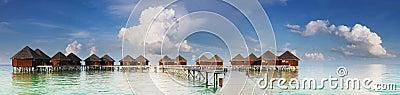 Panoramische Ansicht über Wasserlandhäuser