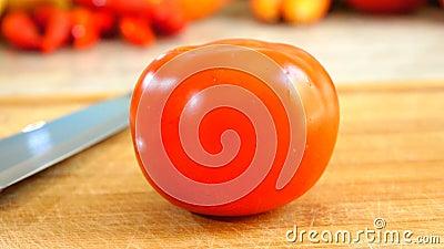 Panorera av tomaten stock video