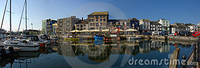 Panormic view of the Barbican Plymouth Editorial Photo