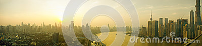 Panoroma sunset view  of shanghai Editorial Stock Photo