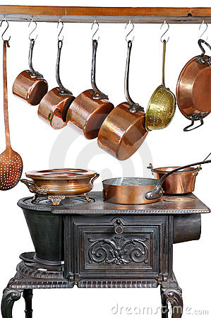 Pans and stove three