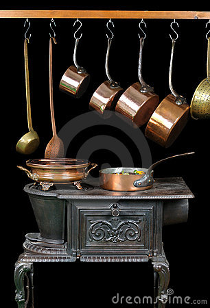 Pans and stove two