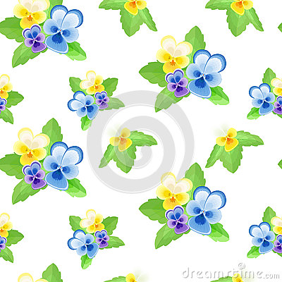 Free Pansies On White Background-01 Royalty Free Stock Images - 72593149
