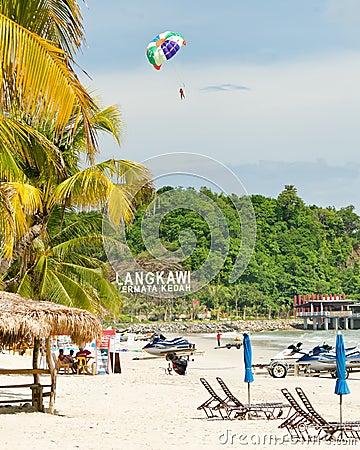 Pantai Cenang, Langkawi, Malaysia Editorial Stock Photo