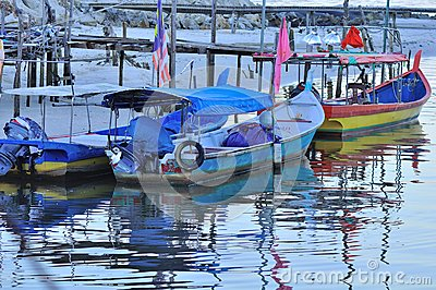 Pantai Kok fishing village in Langkawi Editorial Image