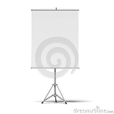 Pantalla del rodillo de la presentación en blanco
