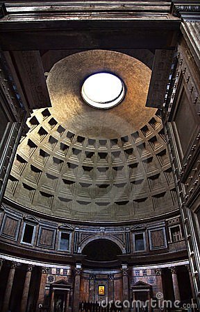 Pantheon Altar Cupola Ceiling Oculus Rome Italy