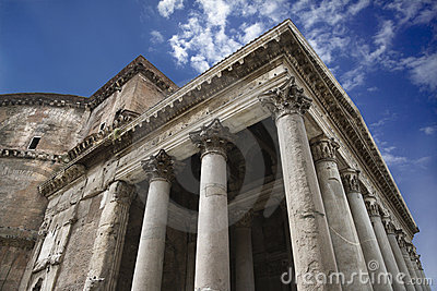 Pantheon exterior in Rome, Italy.