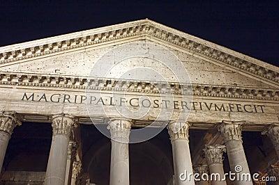 Pantheon facade in Rome