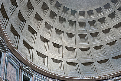 Pantheon interior dome, Rome, Italy