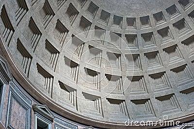 Pantheon interior dome, Rome, Italy
