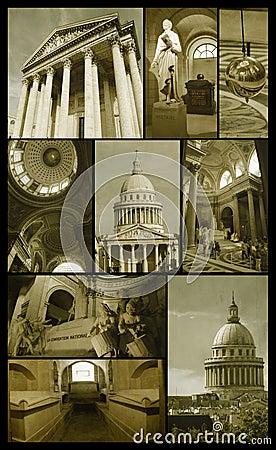 Pantheon of Paris on grunge